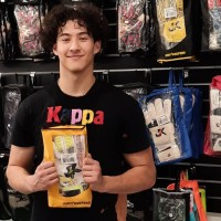 J4K Peterborough student Giulio getting his new J4K gloves from us at GKG Canada. Visit us online today atwww.goalkeeperglovescanada.cafor your FREE Training Tips today.